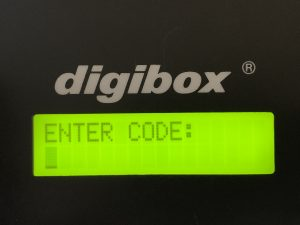 digibox Schlüsselkasten :: hier mehrsprachig aktiviert in Englische Sprache